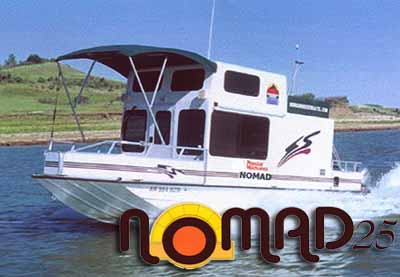 The Nomad 25 Trailerable Houseboat By Nomad Houseboats Inc