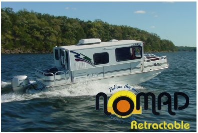 The Nomad 25 Trailerable Houseboat - By Nomad Houseboats, Inc